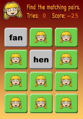 Screenshot Meghan's Matching Game Preschool