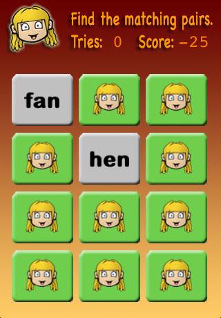 Screenshot Meghan's Matching Game Preschool